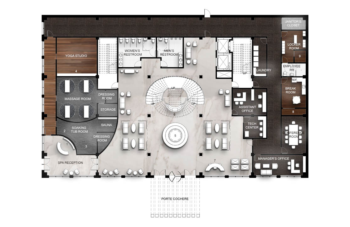 The Oasis_Level One Floor Plan
