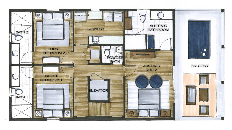 The Murdaugh Residence Level 1_Floor Plan