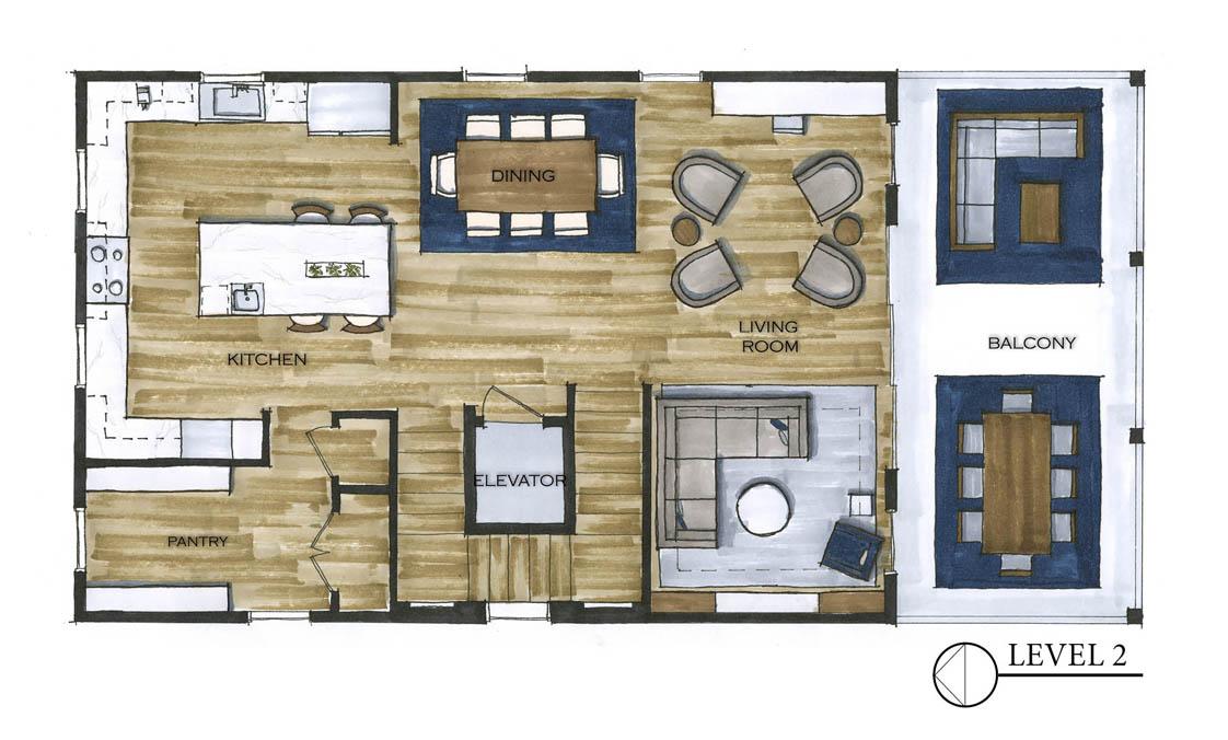 The Murdaugh Residence Level 2_Floor Plan